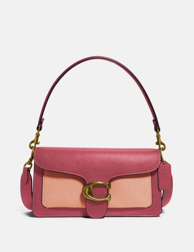 Coach Tabby Shoulder Bag 26 in Colorblock Brass/Rouge Multi New Women's New Arrivals Bags