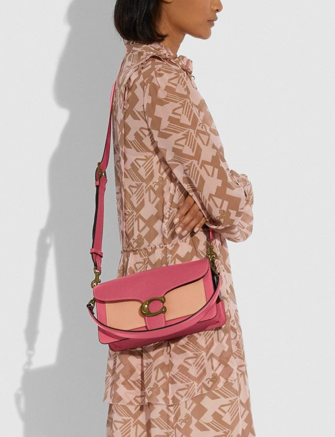 Coach Tabby Shoulder Bag 26 in Colorblock Brass/Rouge Multi New Women's New Arrivals Bags Alternate View 4