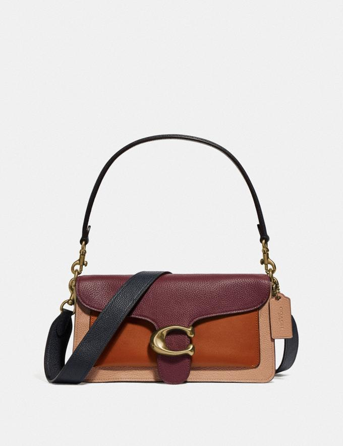 Coach Tabby Shoulder Bag 26 in Colorblock Vintage Mauve Multi/Brass New Featured Online-Only