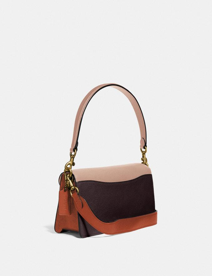 Coach Tabby Shoulder Bag 26 in Colorblock Brass/Taupe Ginger Multi Women Collection Tabby Alternate View 1