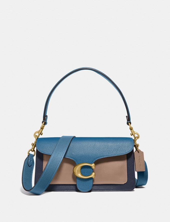 Coach Tabby Shoulder Bag 26 in Colorblock Brass/Lake Multi Gifts For Her Bestsellers