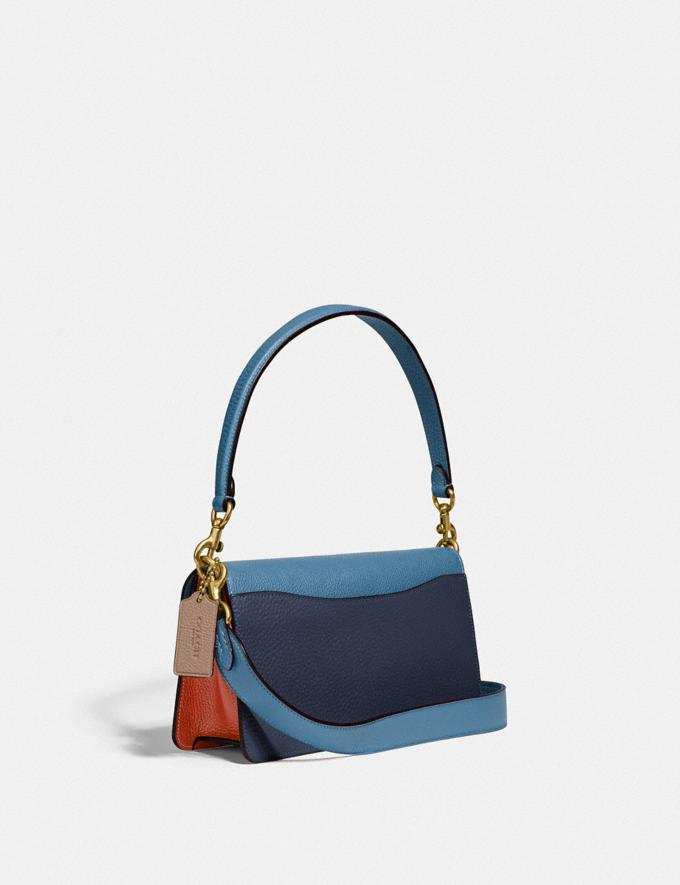 Coach Tabby Shoulder Bag 26 in Colorblock Brass/Lake Multi Gifts For Her Bestsellers Alternate View 1