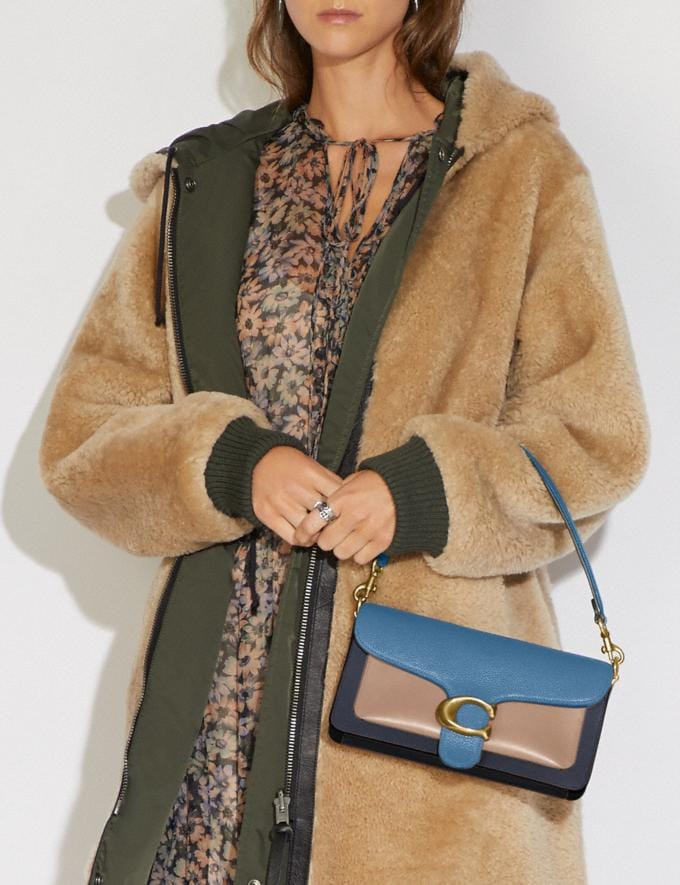 Coach Tabby Shoulder Bag 26 in Colorblock Brass/Lake Multi Gifts For Her Bestsellers Alternate View 4