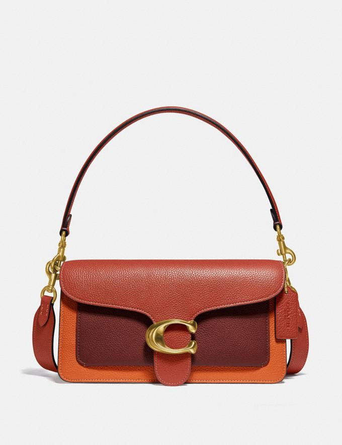 Coach Tabby Shoulder Bag 26 in Colorblock B4/Rust Multi Women Bags Shoulder Bags