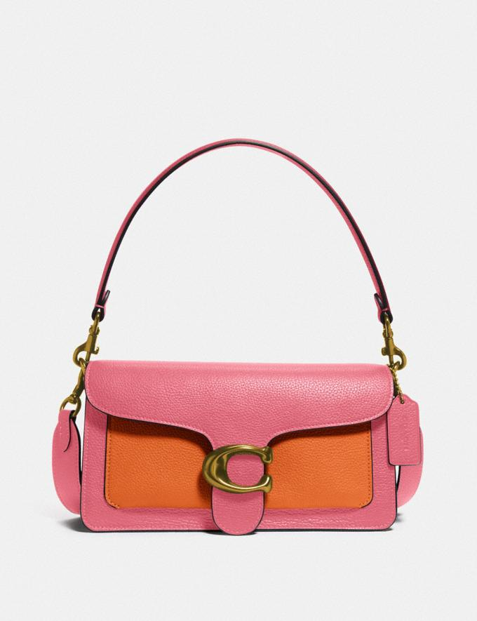 Coach Tabby Shoulder Bag 26 in Colorblock B4/Taffy Orange Multi New Women's New Arrivals Bags