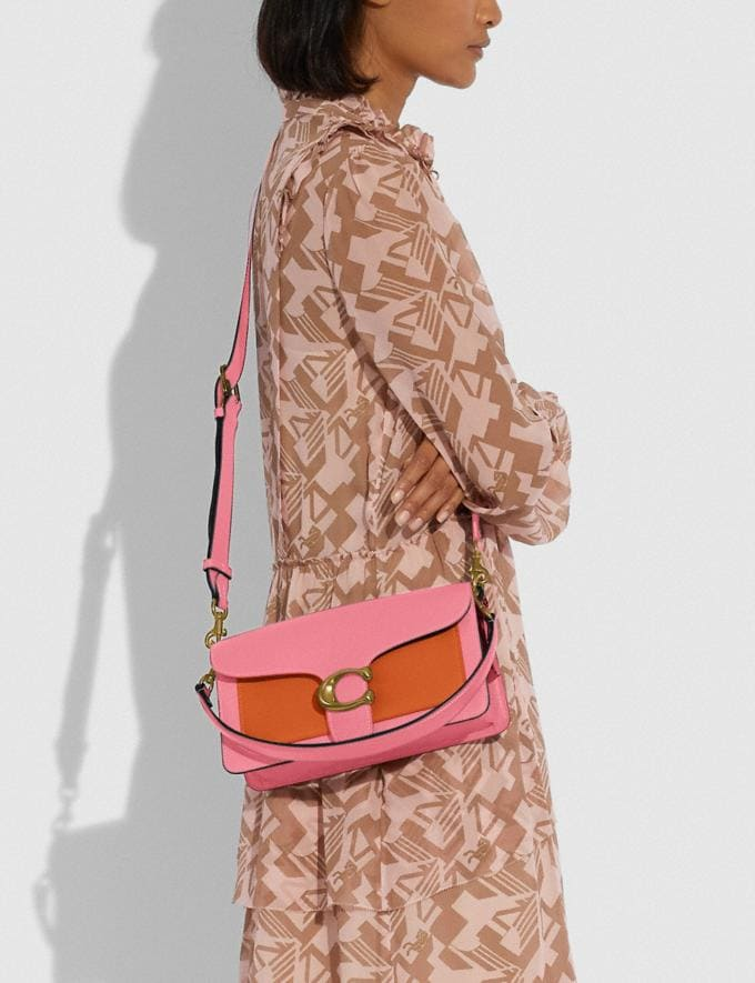 Coach Tabby Shoulder Bag 26 in Colorblock B4/Taffy Orange Multi New Women's New Arrivals Bags Alternate View 4