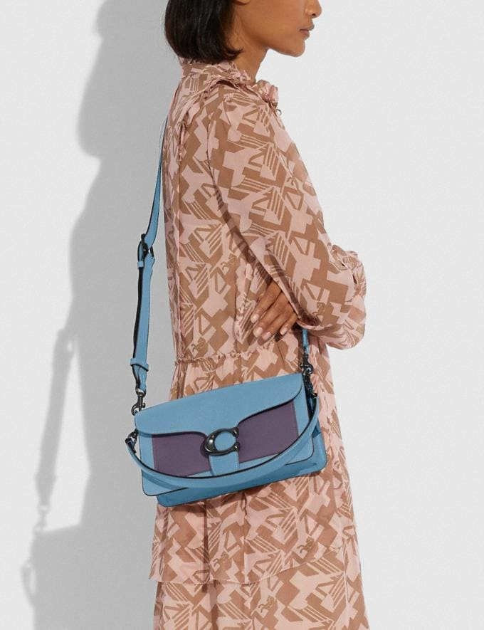 Coach Tabby Shoulder Bag 26 in Colorblock V5/Azure Multi New Women's New Arrivals Bags Alternate View 3