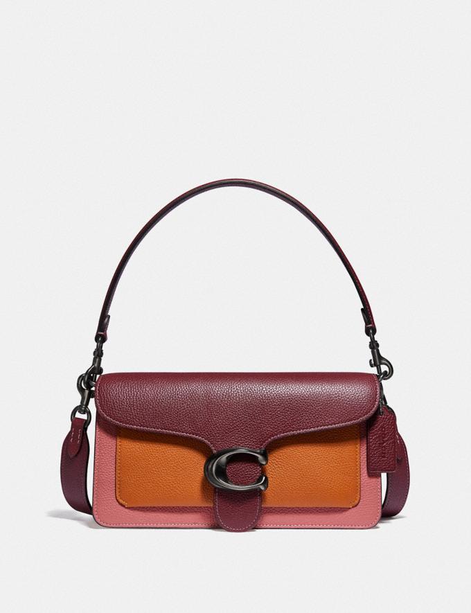 Coach Tabby Shoulder Bag 26 in Colorblock V5/Vintage Pink Multi Outlet Last Chance Bags