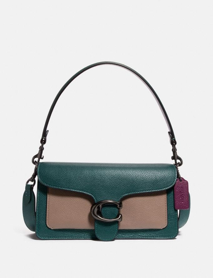 Coach Tabby Shoulder Bag 26 in Colorblock Pewter/Forest Multi Gift For Her Copy of Under €250