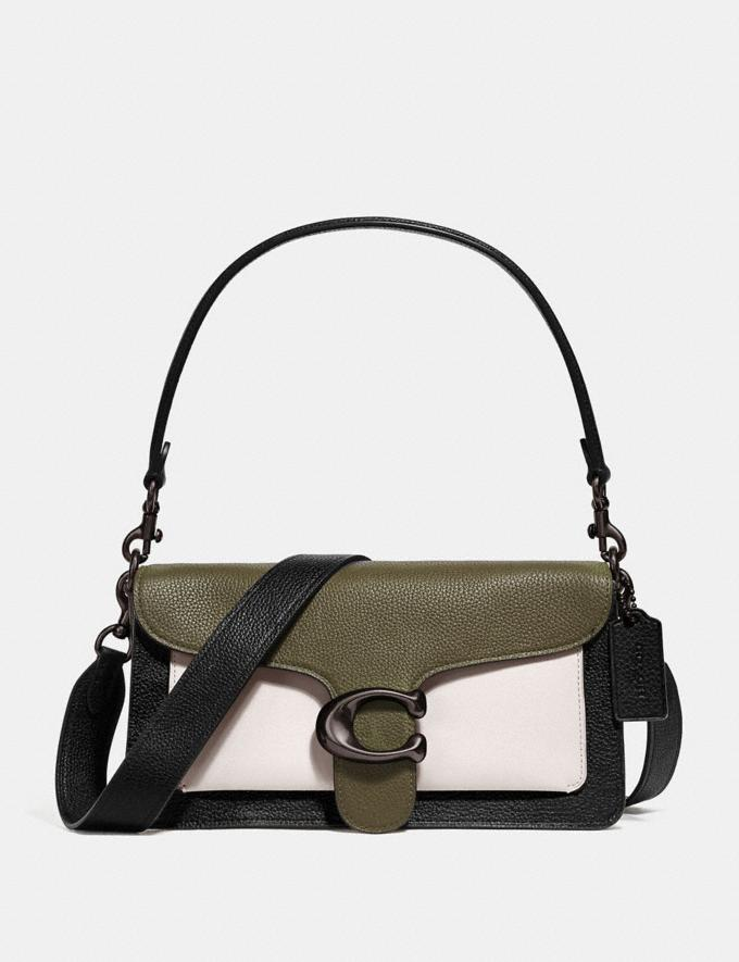 Coach Tabby Shoulder Bag 26 in Colorblock Kelp Multi/Pewter Women Collection Tabby