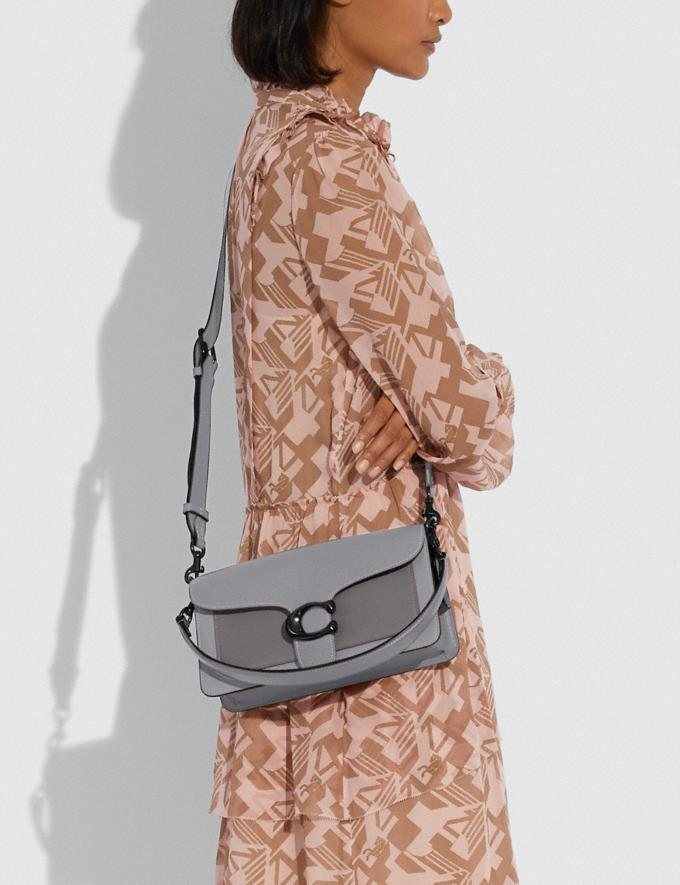Coach Tabby Shoulder Bag 26 in Colorblock Pewter/Granite Multi New Women's New Arrivals Bags Alternate View 4