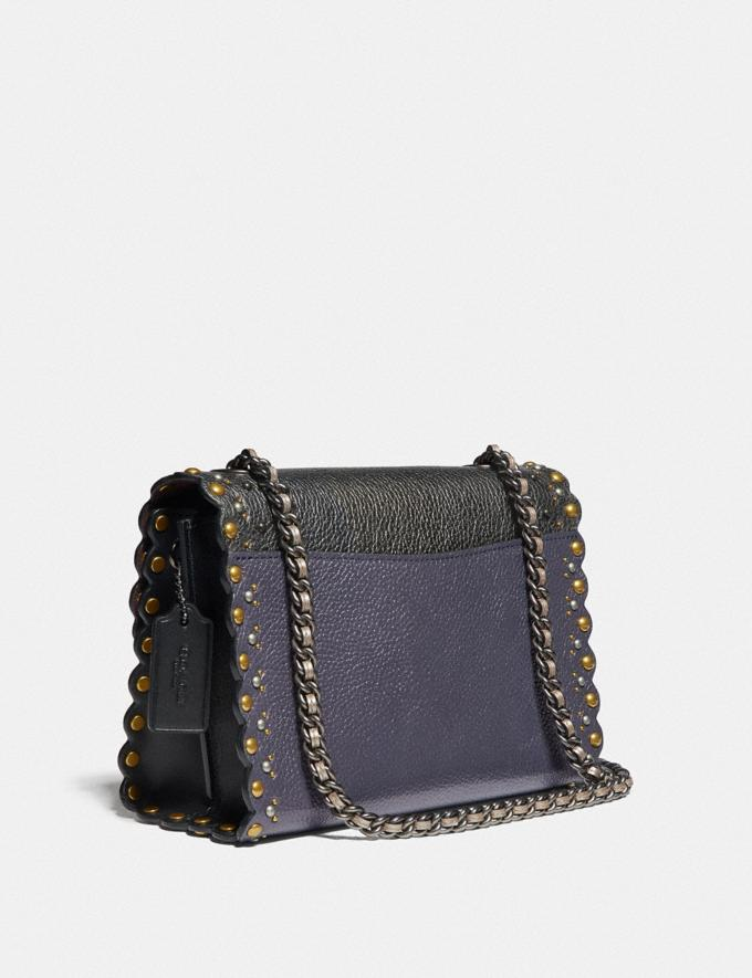 Coach Parker 18 With Scallop Rivets Metallic Eggplant/Pewter Women Collection Parker Alternate View 1