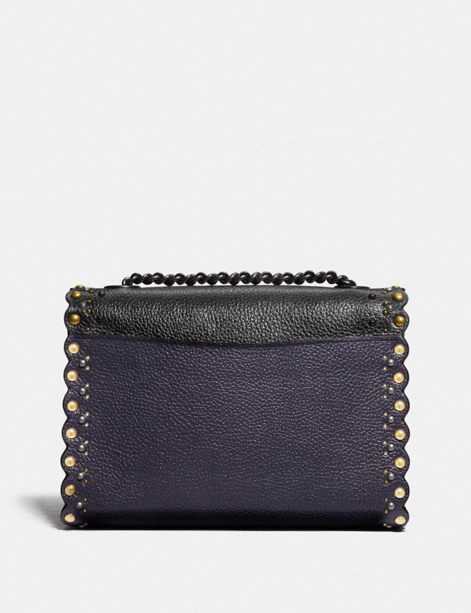 Coach Parker 18 With Scallop Rivets Metallic Eggplant/Pewter Women Collection Parker Alternate View 2