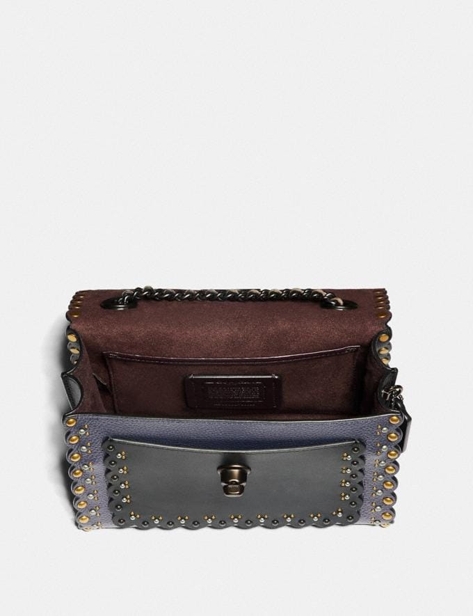 Coach Parker 18 With Scallop Rivets Metallic Eggplant/Pewter Women Collection Parker Alternate View 3