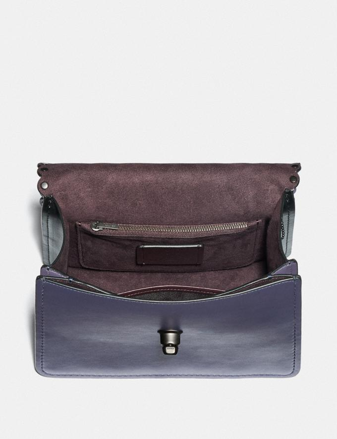 Coach Parker Topo Handle With Scallop Rivets Dusty Lavender Multi/Pewter Women Bags Satchels Alternate View 2