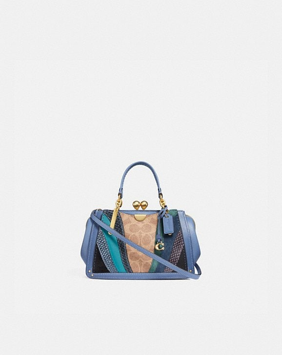 Coach KISSLOCK DREAMER 21 IN SIGNATURE CANVAS WITH WAVE PATCHWORK AND SNAKESKIN DETAIL
