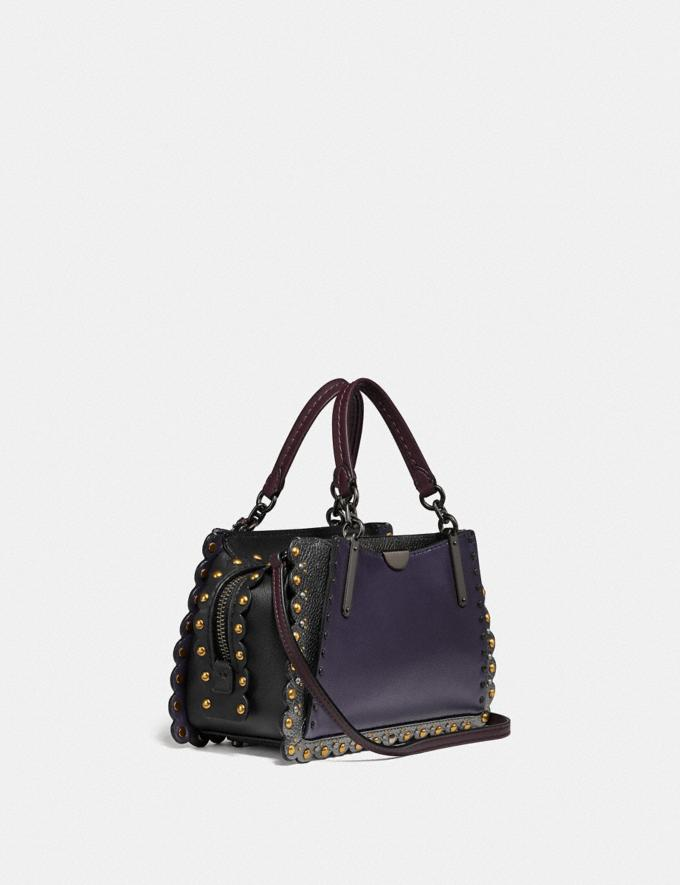 Coach Dreamer 21 With Scallop Rivets Metallic Eggplant/Pewter  Alternate View 1