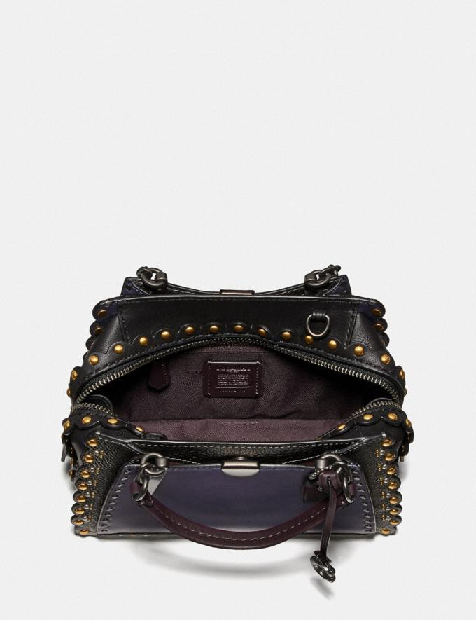 Coach Dreamer 21 With Scallop Rivets Metallic Eggplant/Pewter  Alternate View 2