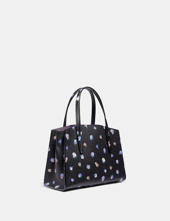 Coach Charlie Carryall 28 With Vintage Rosebud Print Black Multi/Gunmetal Women Handbags Satchels & Carryalls Alternate View 1