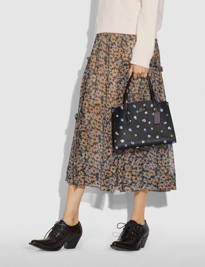 Coach Charlie Carryall 28 With Vintage Rosebud Print Black Multi/Gunmetal Women Handbags Satchels & Carryalls Alternate View 4