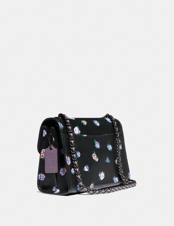 Coach Parker 18 With Vintage Rosebud Print Black Multi/Pewter SALE 30% off Select Styles 30% off Alternate View 1