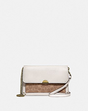 DREAMER CONVERTIBLE CROSSBODY IN COLORBLOCK SIGNATURE CANVAS