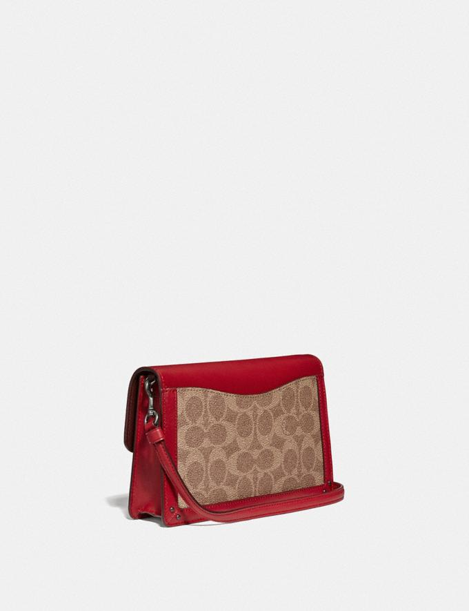 Coach Dreamer Convertible Crossbody in Colorblock Signature Canvas Tan Red Apple/Pewter Cyber Monday Online Only Cyber Monday Sale Bags Alternate View 1