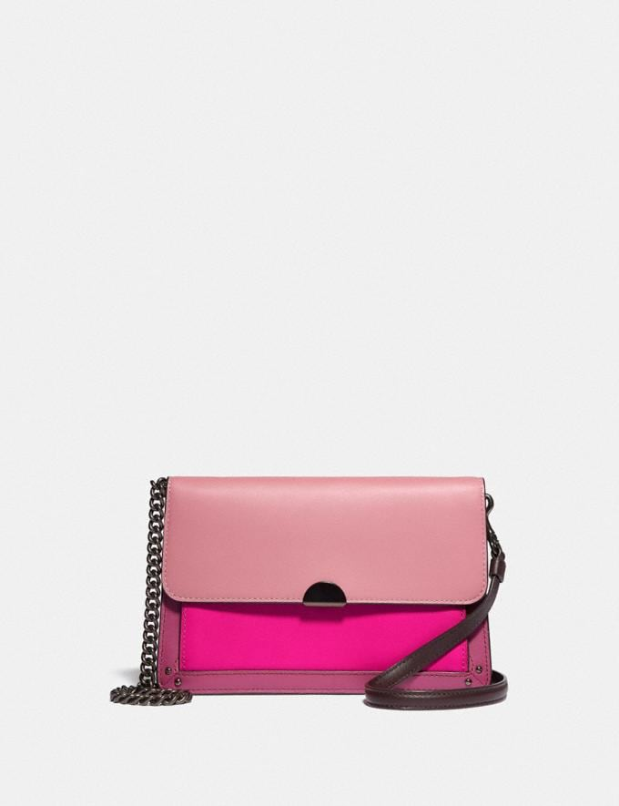 Coach Dreamer Convertible Crossbody in Colorblock True Pink Multi/Pewter Women Bags Crossbody Bags