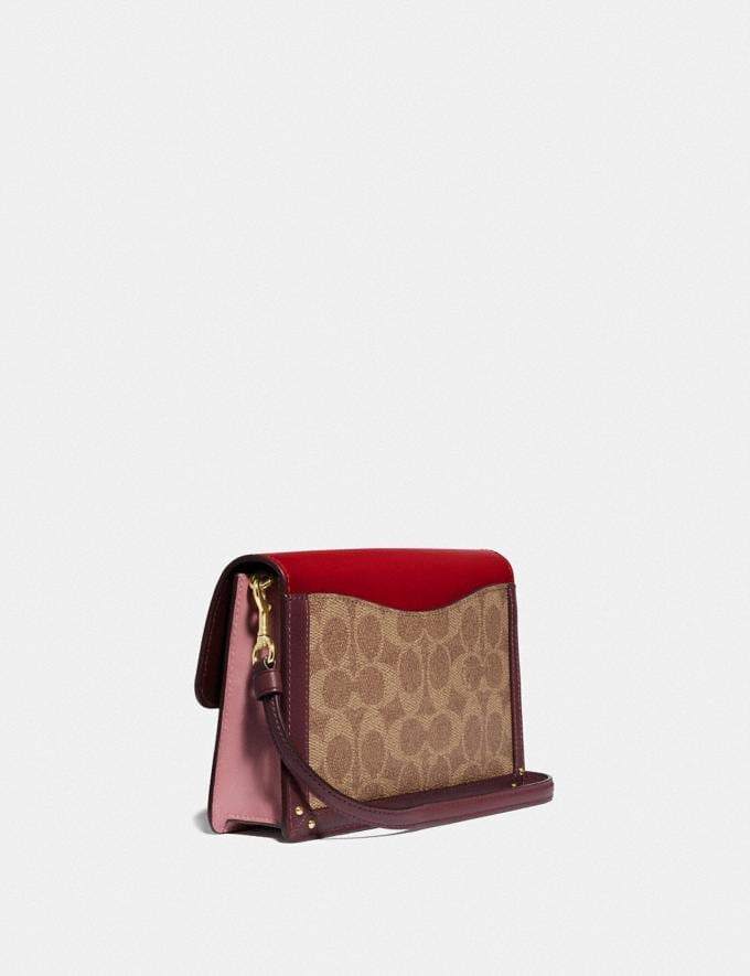 Coach Dreamer Convertible Crossbody in Colorblock Signature Canvas Tan Red Apple/Gold New Featured 30% off (and more) Alternate View 1