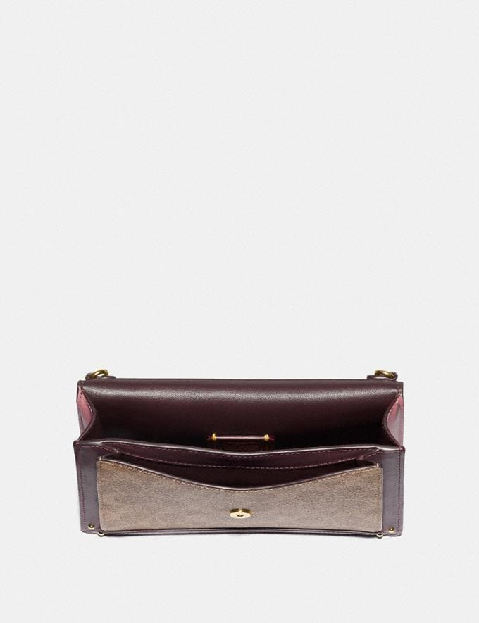 Coach Dreamer Convertible Crossbody in Colorblock Signature Canvas Tan Red Apple/Gold New Featured 30% off (and more) Alternate View 2