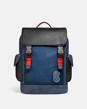 RIVINGTON BACKPACK IN COLORBLOCK WITH COACH PATCH