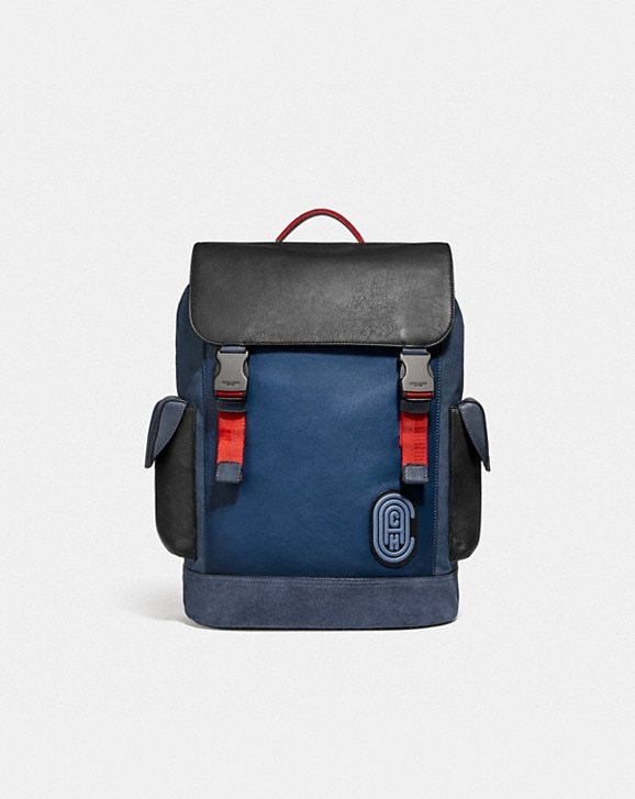 Coach RIVINGTON BACKPACK IN COLORBLOCK WITH COACH PATCH