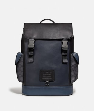 RIVINGTON BACKPACK WITH SIGNATURE CANVAS BLOCKING