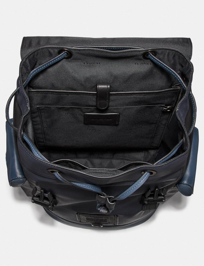 Coach Rivington Backpack With Signature Canvas Blocking Midnight Navy/Charcoal/Black Copper New Men's New Arrivals View All Alternate View 2