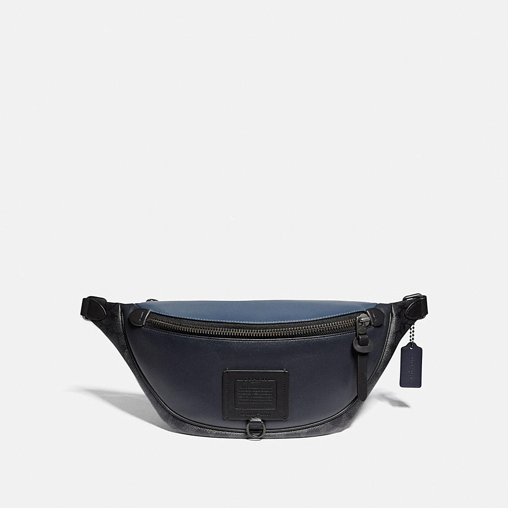 Rivington Belt Bag With Signature Canvas Blocking by Coach