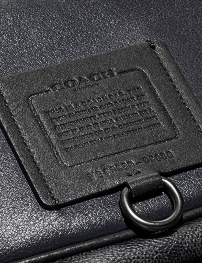 Coach Rivington Belt Bag With Signature Canvas Blocking Midnight Navy/Charcoal/Black Copper Men Bags Belt Bags Alternate View 4
