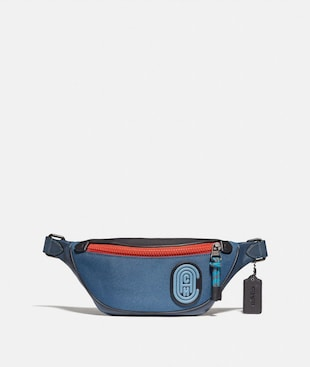 RIVINGTON BELT BAG 7 IN COLORBLOCK WITH COACH PATCH