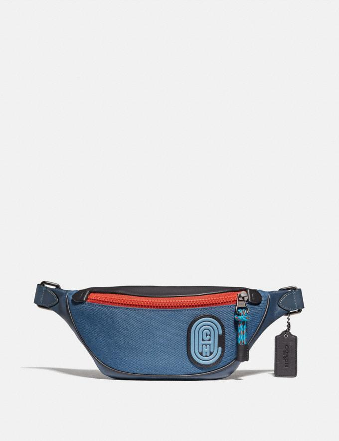 Coach Rivington Belt Bag 7 in Colorblock With Coach Patch True Blue Multi/Black Copper New Men's New Arrivals