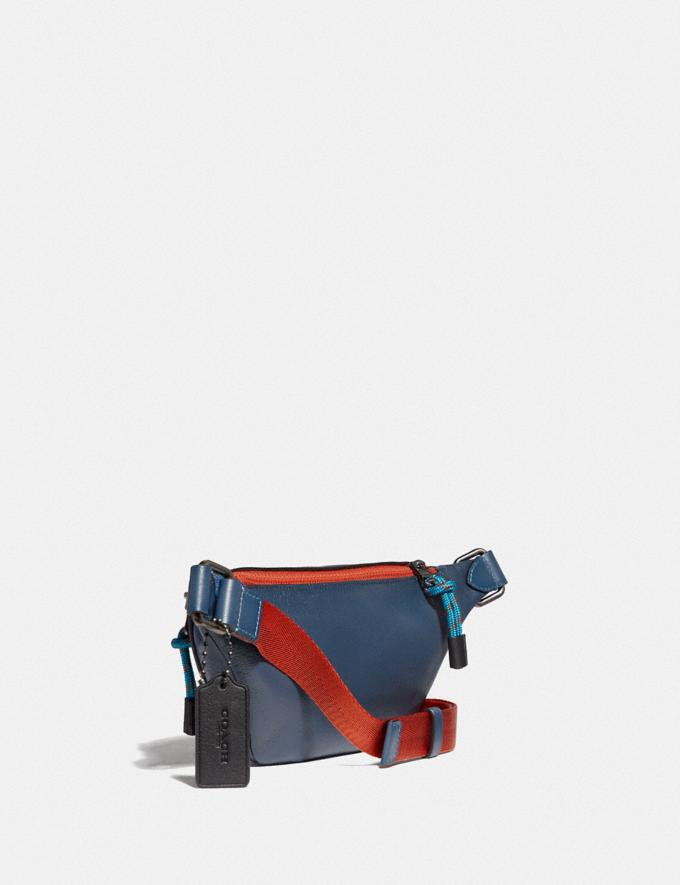 Coach Rivington Belt Bag 7 in Colorblock With Coach Patch True Blue Multi/Black Copper New Men's New Arrivals View All Alternate View 1