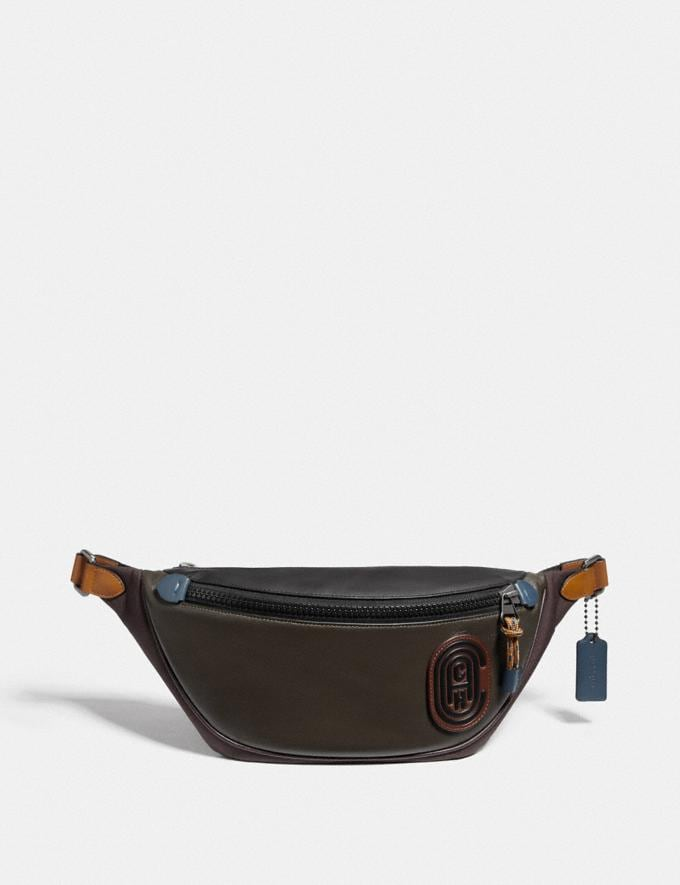 Coach Rivington Belt Bag in Colorblock With Coach Patch Moss Multi/Black Copper New Men's New Arrivals