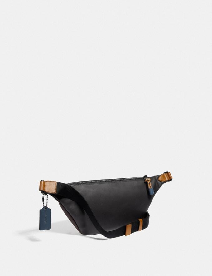 Coach Rivington Belt Bag in Colorblock With Coach Patch Moss Multi/Black Copper New Men's New Arrivals Alternate View 1