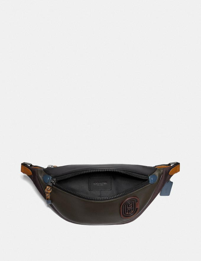 Coach Rivington Belt Bag in Colorblock With Coach Patch Moss Multi/Black Copper New Men's New Arrivals Alternate View 2