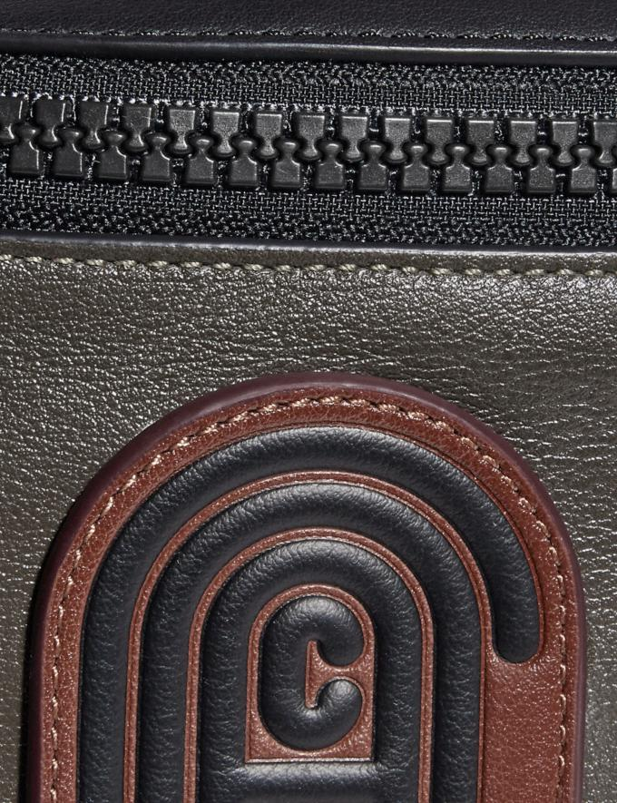 Coach Rivington Belt Bag in Colorblock With Coach Patch Moss Multi/Black Copper New Men's New Arrivals Alternate View 4