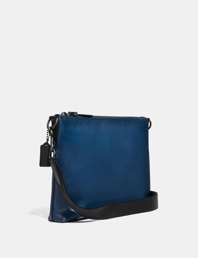 Coach Rivington Messenger With Coach Patch True Blue/Black Copper Cyber Monday Men's Cyber Monday Sale Bags Alternate View 1