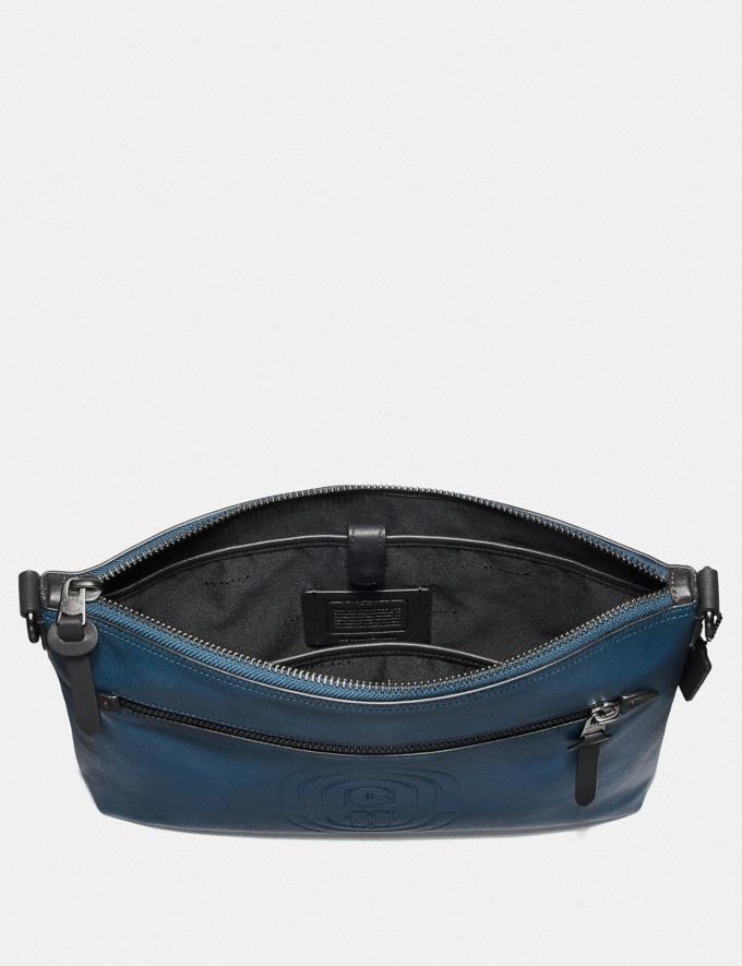 Coach Rivington Messenger With Coach Patch True Blue/Black Copper Men Bags Messenger Bags Alternate View 2