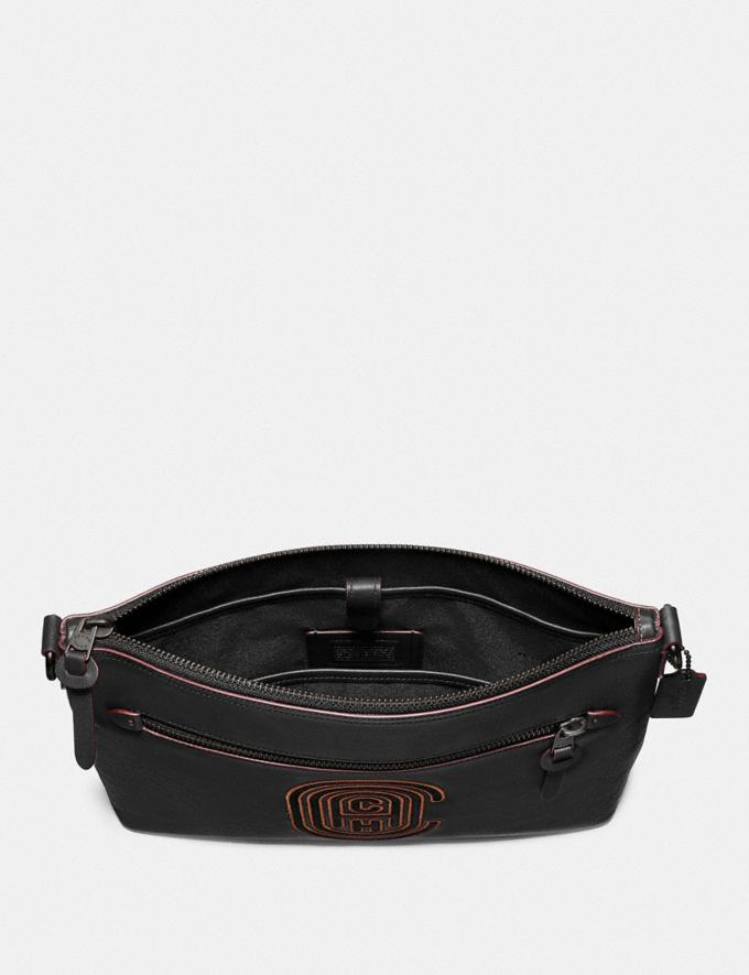 Coach Rivington Messenger With Coach Patch Black/Black Copper Black Friday Men's Cyber Monday Sale Bags Alternate View 2