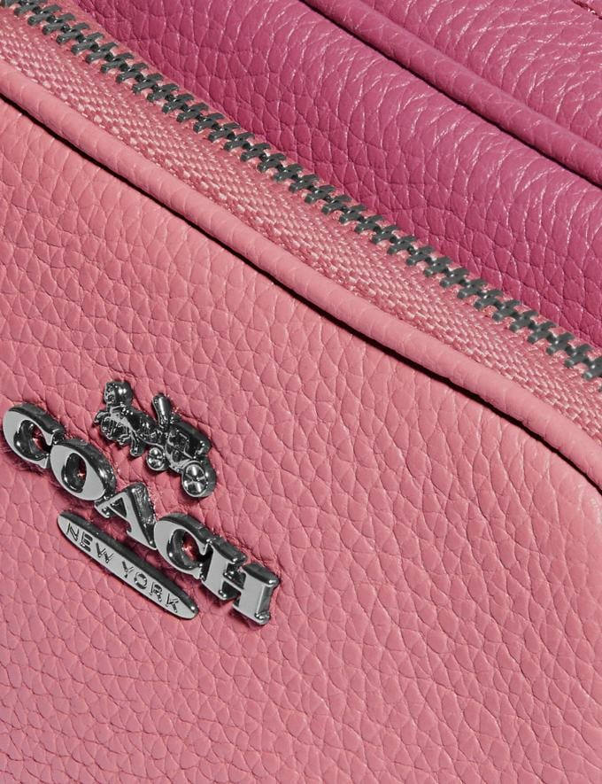 Coach Double Zip Belt Bag in Colorblock Gunmetal/True Pink Multi Women Bags Belt Bags Alternate View 4
