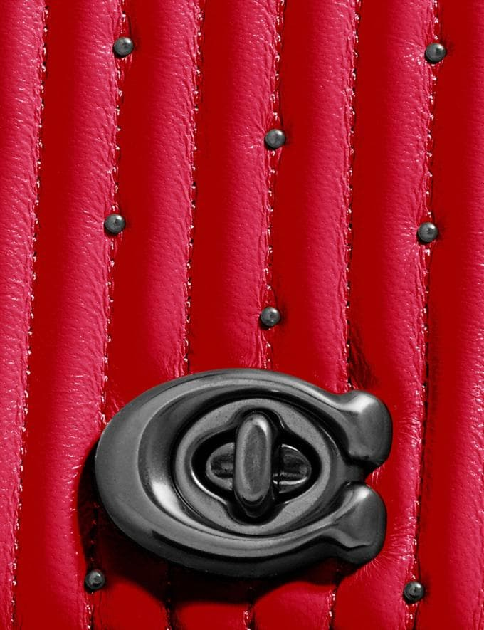 Coach Convertible Belt Bag With Quilting and Rivets Red Apple/Pewter Women Bags Belt Bags Alternate View 6