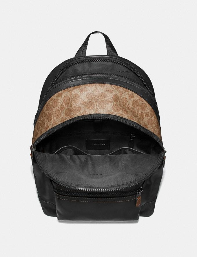 Coach Academy Backpack With Signature Canvas Blocking and Coach Patch Black/Khaki/Black Copper Cyber Monday Men's Cyber Monday Sale Bags Alternate View 2