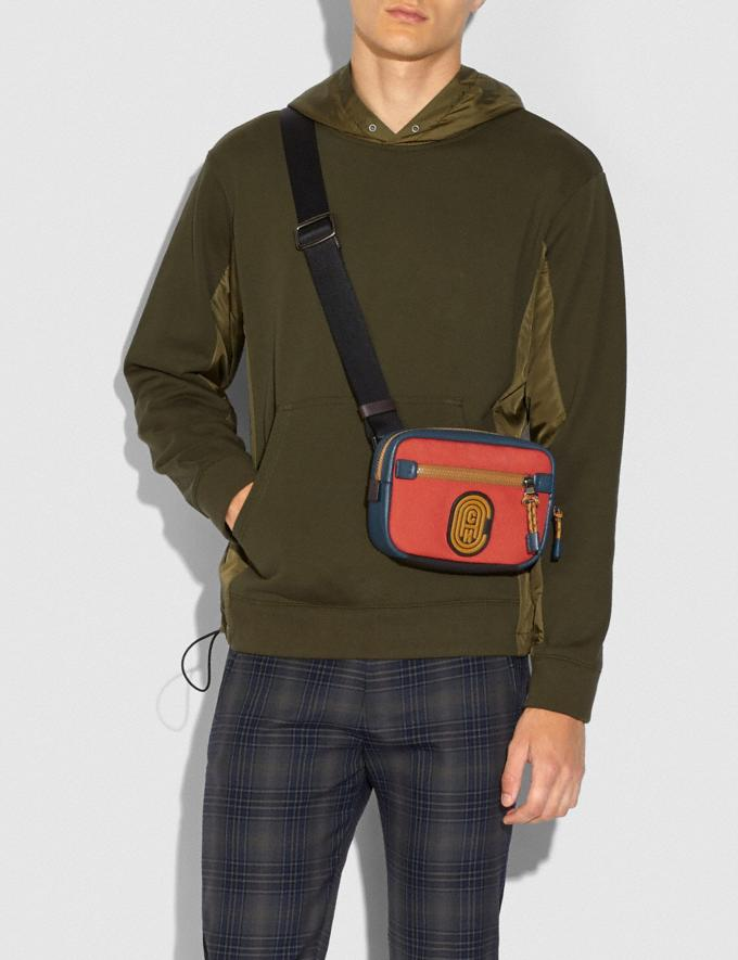 Coach Academy L-Pack in Colorblock With Coach Patch Oxblood Multi/Black Copper New Men's New Arrivals Alternate View 3
